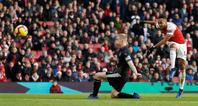 Aubameyang Shines As Arsenal Beat Burnley 3-1