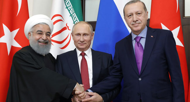 Russia To Host Putin, Erdogan, Rouhani Summit In 2019