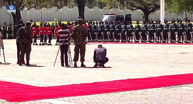 Service Chiefs, Govt Officials Attend Special Parade For Buhari At 76