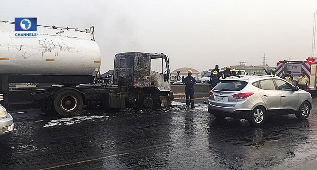 Tanker Fire Causes Panic, Gridlock At Maryland