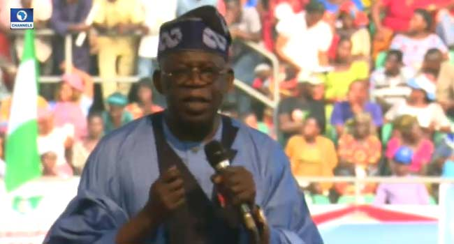 2019 Elections: We Won't Return To Years Of Wasteful, Corrupt Economy, Tinubu Vows