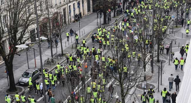 French 'Yellow Vests' Stage 20th Day Of Protests