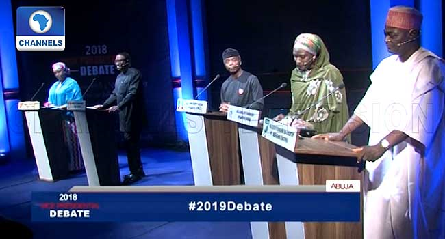 #Debate2019: The Position Of Vice President Is Crucial, Candidates Insist