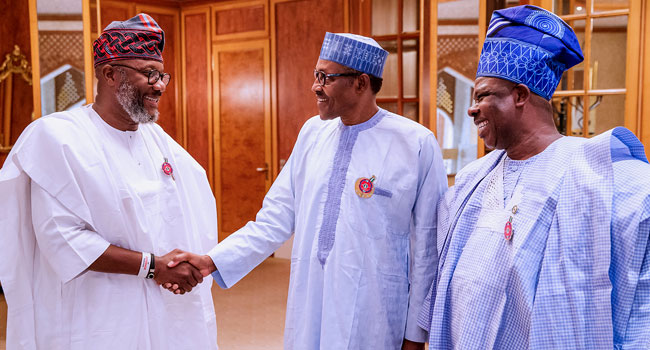 Amosun Leads APM Governorship Candidate To Meet Buhari