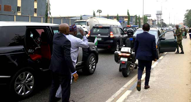 Ambode Apprehends Soldier, One Other Driving Against Traffic