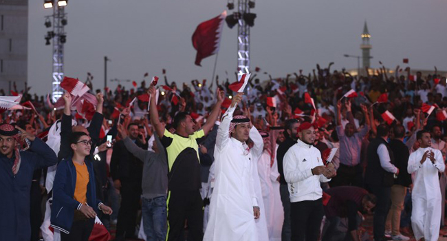 Jubilant Qataris Take To The Streets To Celebrate UAE Victory