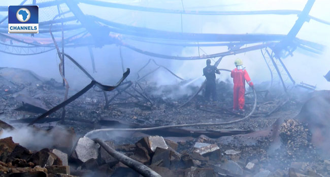 Firefighters Continue Rescue Efforts, Prevent Spread Of Lagos Factory Fire
