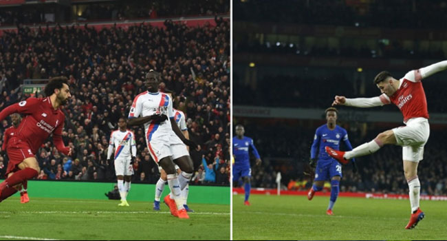 Salah Fires Liverpool Seven Points Clear, Arsenal Rock Chelsea