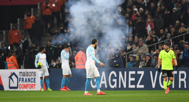 Marseille Match Halted After Firework Explodes On Touchline