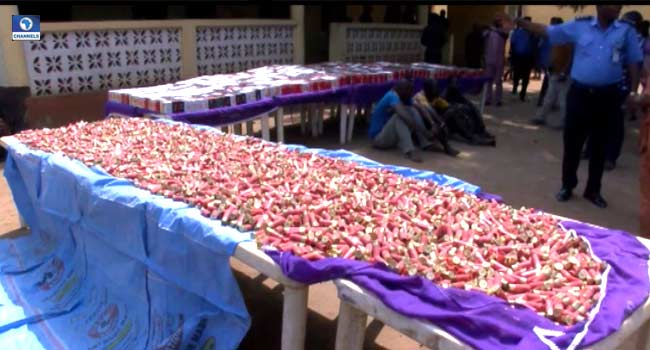 Police Intercept 34,865 Live Cartridges, Arrest Three Suspected Smugglers In Ogun
