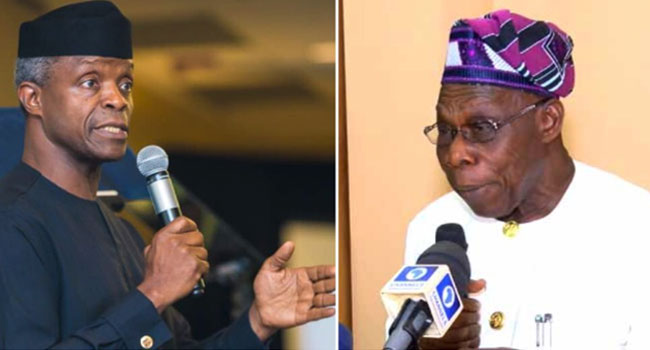 Osinbajo Reacts To Obasanjo's Comments On TraderMoni [FULL STATEMENT]
