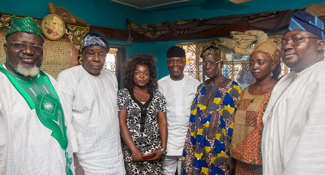 Osinbajo Takes Door-To-Door Campaign To Saki, Oyo State