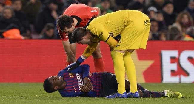 Injury Rules Barca's Dembele Out For Two Weeks