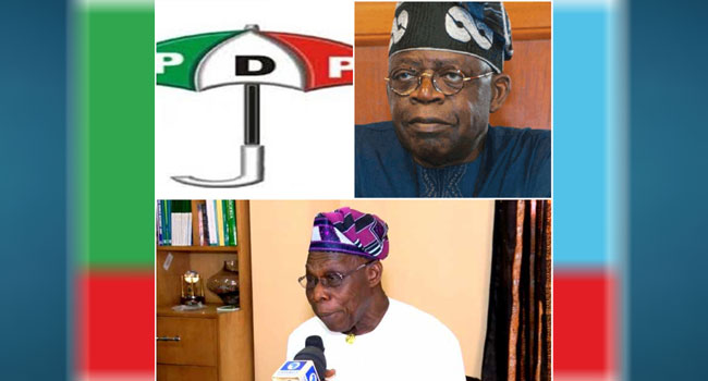 PDP Tackles Tinubu Over Comment On Obasanjo