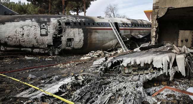 PHOTOS: Black Monday In Iran As Military Cargo Plane Crashes