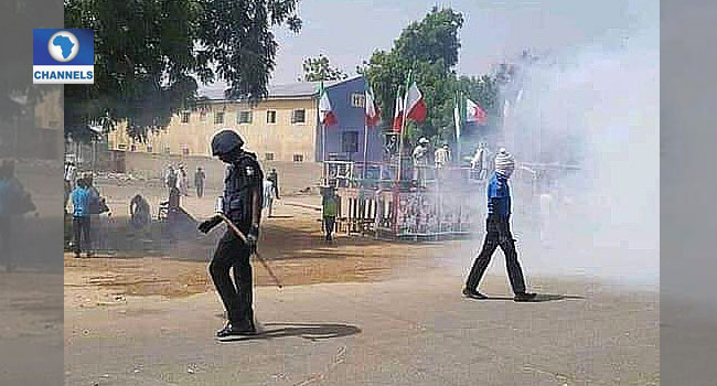 PDP Rally: Police Fire Tear Gas At Supporters In Jigawa