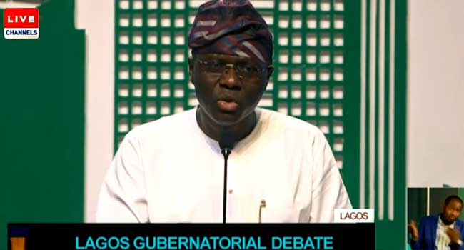 #LagosDebate: Sanwo-Olu Vows To Tackle Lagos Traffic In First Term