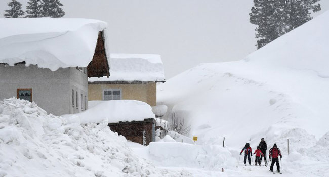 Three Dead, Four Missing After Heavy Snow In Austria