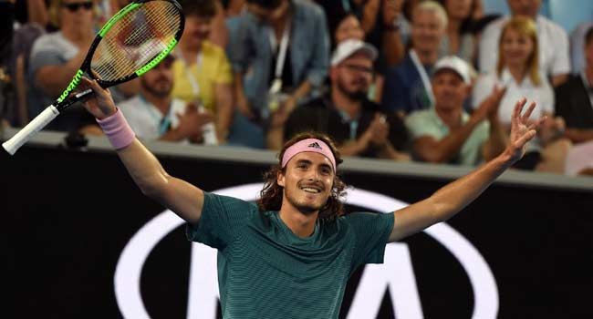 Tsitsipas Eyes Up Federer After Rollicking Victory