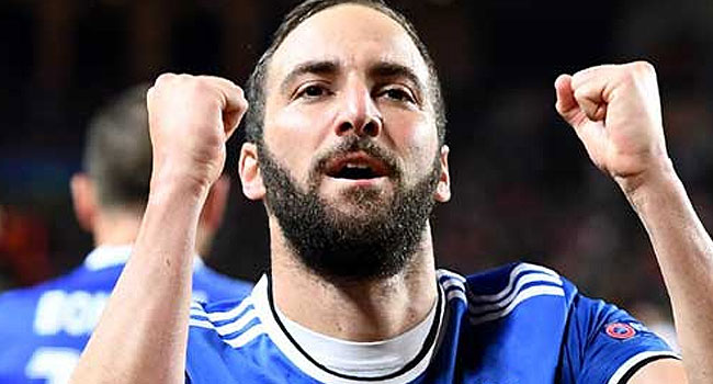 BREAKING: Chelsea Sign Higuain On Loan
