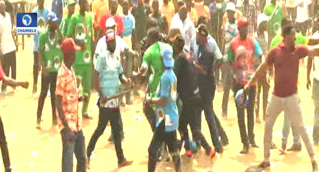 Journalists Shot, MC Oluomo Stabbed At Lagos APC Rally