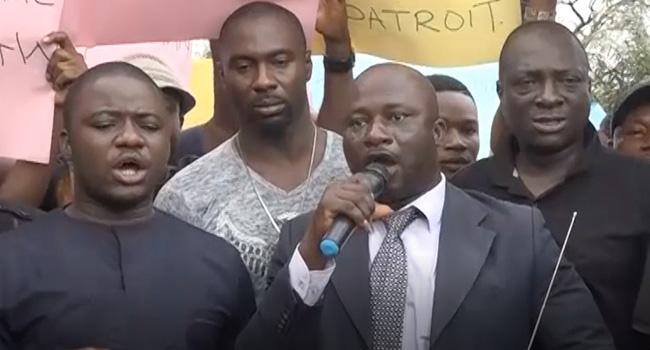 Youths Protest Suspension Of CJN In Enugu, Cross River