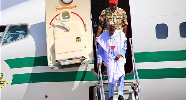 Buhari Arrives Maiduguri For APC Campaign