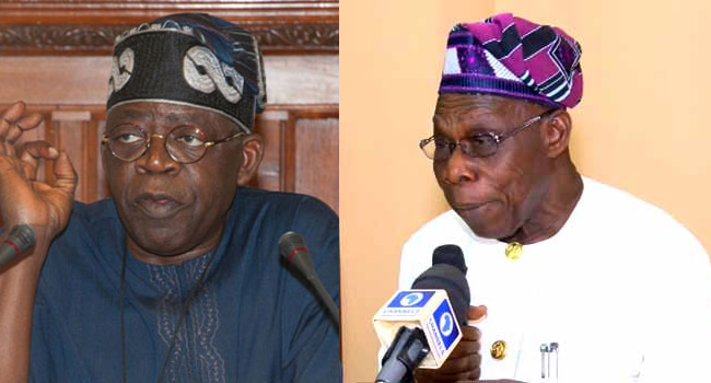 Your Contribution To Our Political Discourse Is 'Shameless', Tinubu Slams Obasanjo