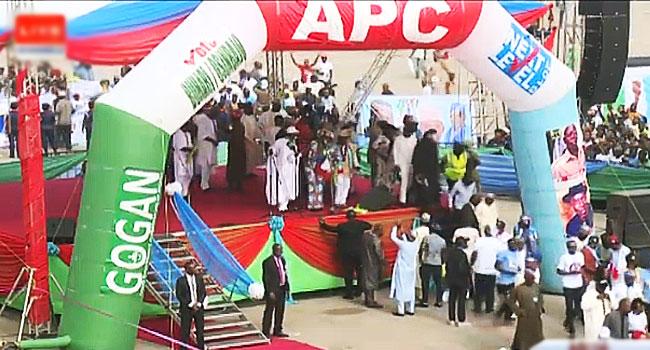 Oshiomhole, Tinubu Absent As APC Takes Presidential Rally To Abuja