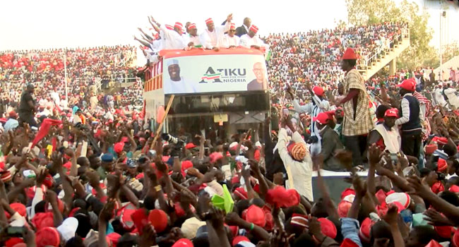 Image result for atiku campaign in kano