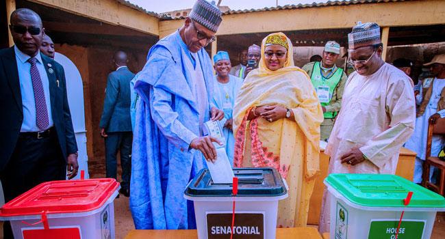 PHOTOS: Buhari, Wife Vote In Daura