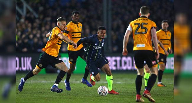 Man City End Newport's Giant-Killing Run To Reach FA Cup Quarter-Finals