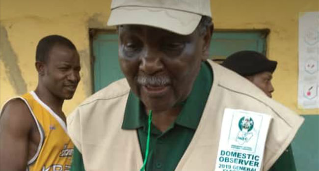 Former Head Of State, Gowon Observes Elections In Abuja