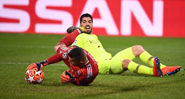 Champions League: Barca Fire Blanks At Lyon In Last 16, First Leg