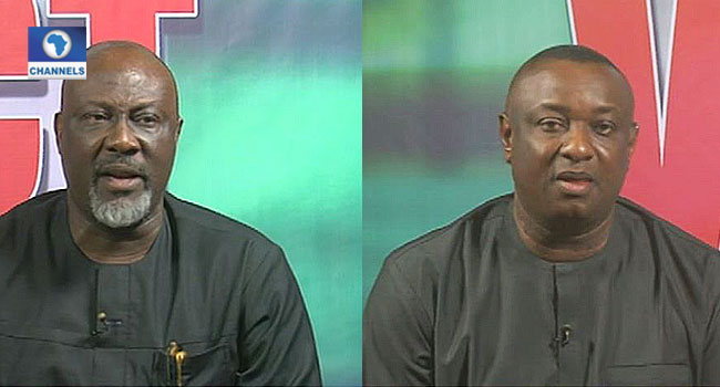 Melaye, Keyamo In Heated Argument Over Buhari's Directive On Ballot Box Snatchers