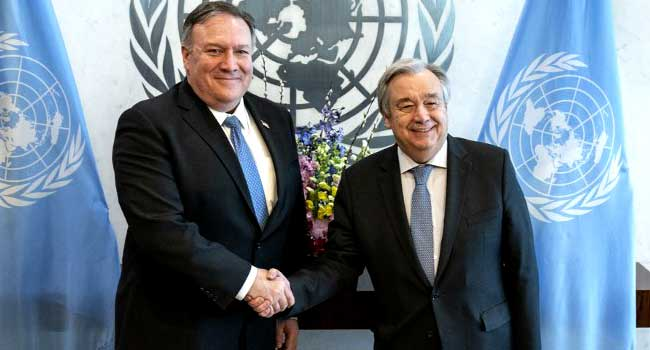 Pompeo Discusses Yemen, Venezuela In Talks With UN Chief