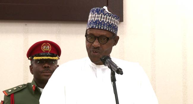 VIDEO: 'Only God Can Give Them Punishment', Buhari Blasts Looters