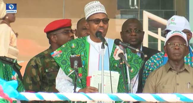 We Have Done Quite Well In Security, Buhari says in Ekiti