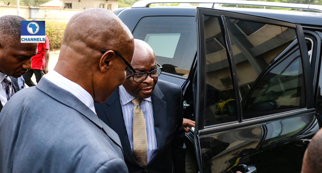 Justice Onnoghen's Appearance Before CCT In Pictures