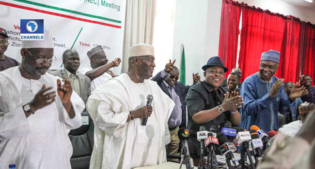 PHOTOS: Atiku, Dogara, Governors Attend PDP NEC Meeting