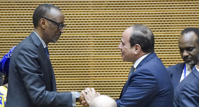 Rwanda's Kagame Steps Down, Egypt's Sisi Takes Over As African Union Chairman