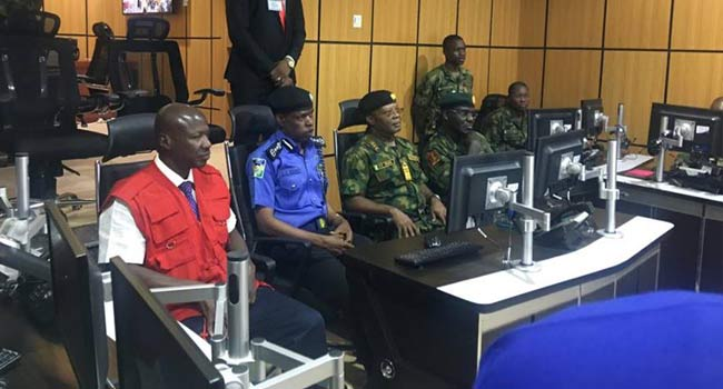 Elections: Chief Of Naval Staff, IGP, EFCC Boss Visit Army Situation Room [Photos]