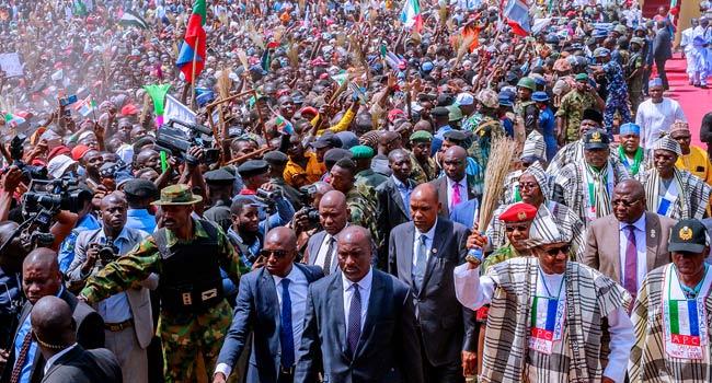 Campaign Billboards Damaged In Taraba Ahead Of President Buhari's Campaign
