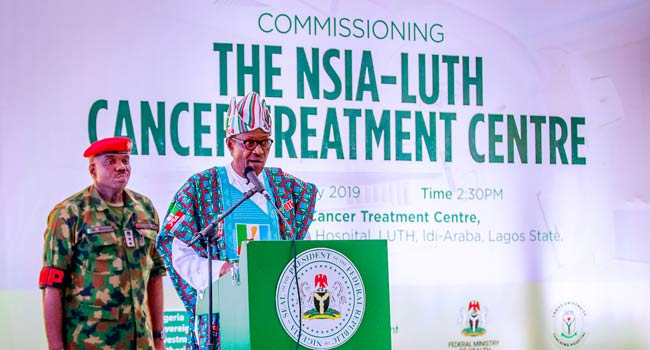 Buhari Commissions NSIA-LUTH Cancer Treatment Centre In Lagos