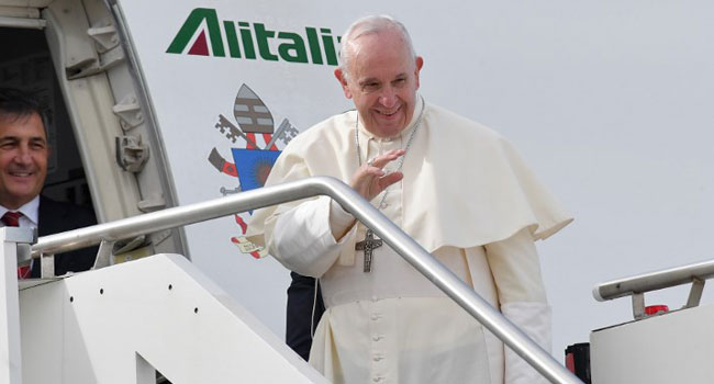 Pope Francis Lands In UAE For Historic Visit