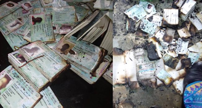 Uncollected PVCs Set Ablaze At INEC LGA Office In Abia