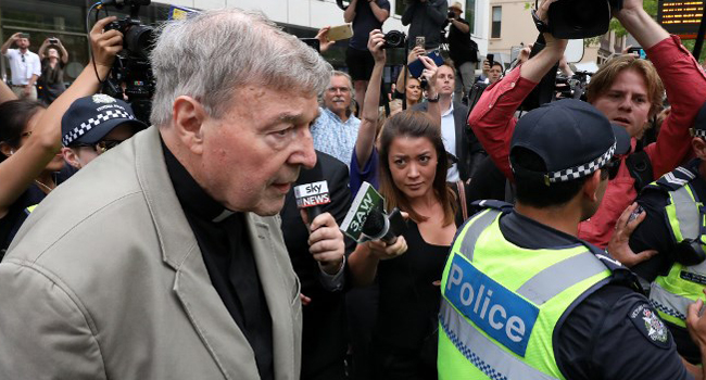 Top Vatican Cardinal Pell Found Guilty Of Child Sex Abuse