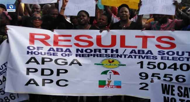 Abia Residents Protest Over Results Of National Assembly Elections