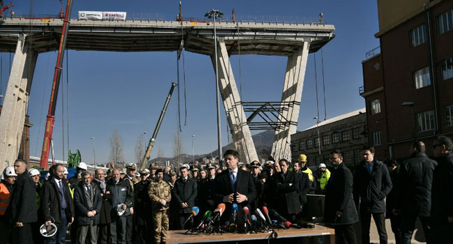 Italy Demolishes Disaster Bridge That Claimed 43 Lives
