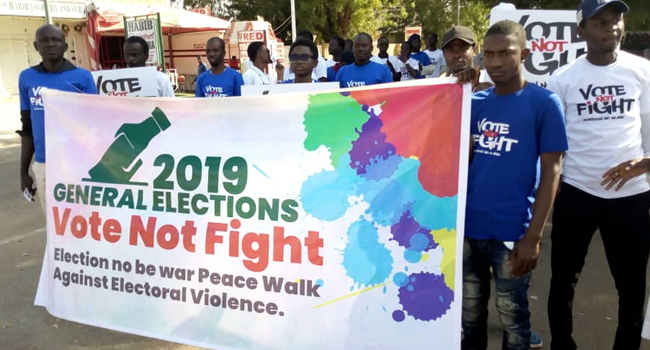 Youths Hold Rally In Katsina, Call For Violence-Free Elections
